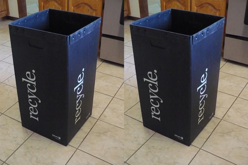 Corrugated plastic recycle bin corrugated plastic trash - Collapsible trash bins ...