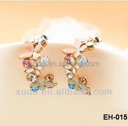 Hot sale wholesale <strong>fashion</strong> 18K gold plated stud earrings for women