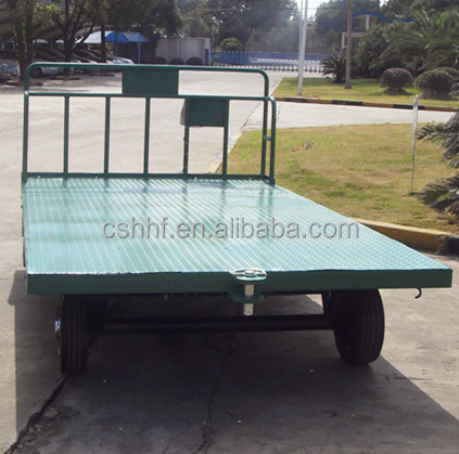 weighing cargo and baggager trailer dolly for warehouse, airport, railway station and logistics use.