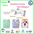 happy flute baby cloth diaper reusable AI2 diapers factory OEM