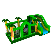2018 Green jungle outdoor inflatable playground slide bounce house used jumping castles for sale