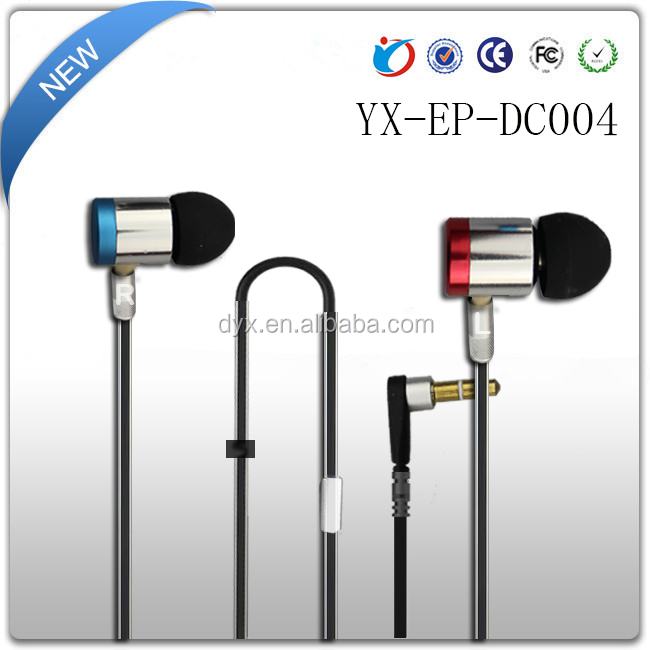3.5mm Stereo Earbuds Metal Housing Headphones For Iphone Earbuds Ipad Ipod Plus Mp3/4 Galaxy Smartphones S6 Samsung S5
