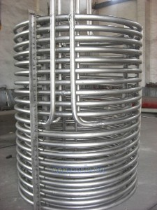 304 Stainless steel coil pipe for solar heat exchanger
