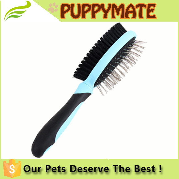 New pet grooming products large size double side pet brush, pet comb