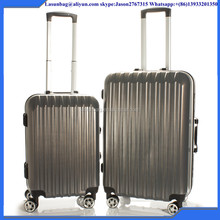 Aldi design elegant 2 pieces set ABS+PC travel style trolley luggage bag set