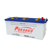 PERSEUS brand weight of truck battery N120 Dry car battery