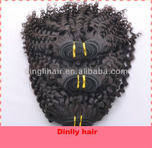 Funmi Hair Afro kinky curly hair for black women Indian Virgin 100% human hair factory price made in china
