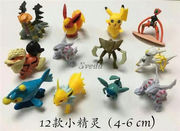(Hot Game) Pokemon go PVC figure 12pcs for set Pokect Monster model toys Pokemon Pikachu figure doll