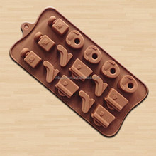 High-Heeled Shoes silicone Molds Handbag Chocolate Moulds Perfume Bottles Cake Stencil kichen Tools