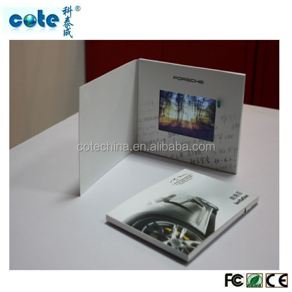LCD advertising video card booklet,greeting card with video/Factory Customized Greeting/invitation/bus