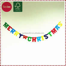 Merry Christmas Paper Letter Banner Garland for Home Decoration