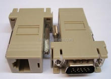 NEW ITEM: VGA 15pin male to RJ45 female coupler adapter