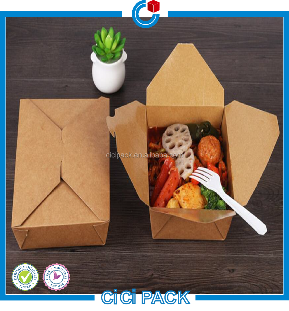 Hot selling paper folding lunch box disposable printing paper lunch box singapore