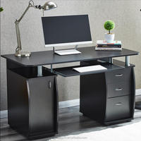 Computer Desk With Cabinet and 3 Drawers for Home Office PC Furniture(DX-8585)