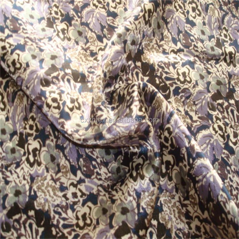 snakeskin pattern spandex satin fabric