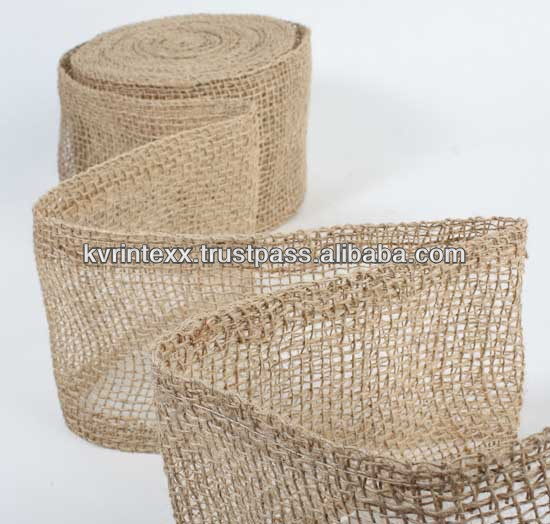 jute black and white checked ribbon