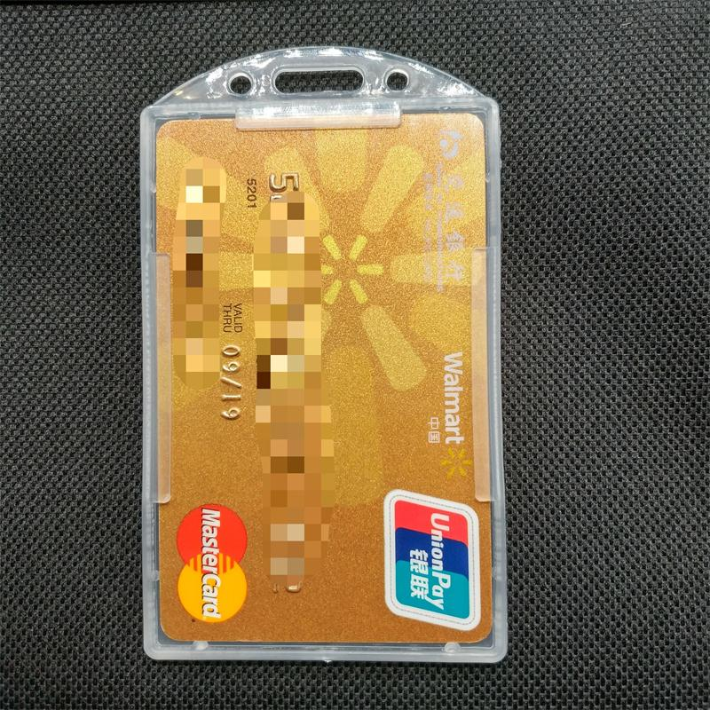 Wholesale custom open face rigid plastic ID badge card holder