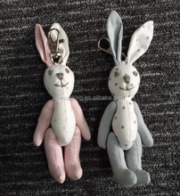 Hot Sale lovely mini rabbit key chain pendant plush toy