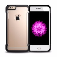 Top Quality Hard Plastic Clear Smartphone Back Cover Case for iPhone 6 Plus / 6s Plus Cell Phone Case