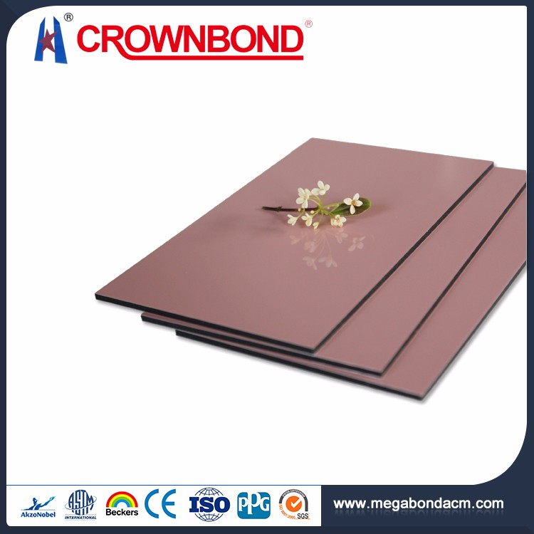 Crownbond Quality Guarantee red mirror aluminum composite panels