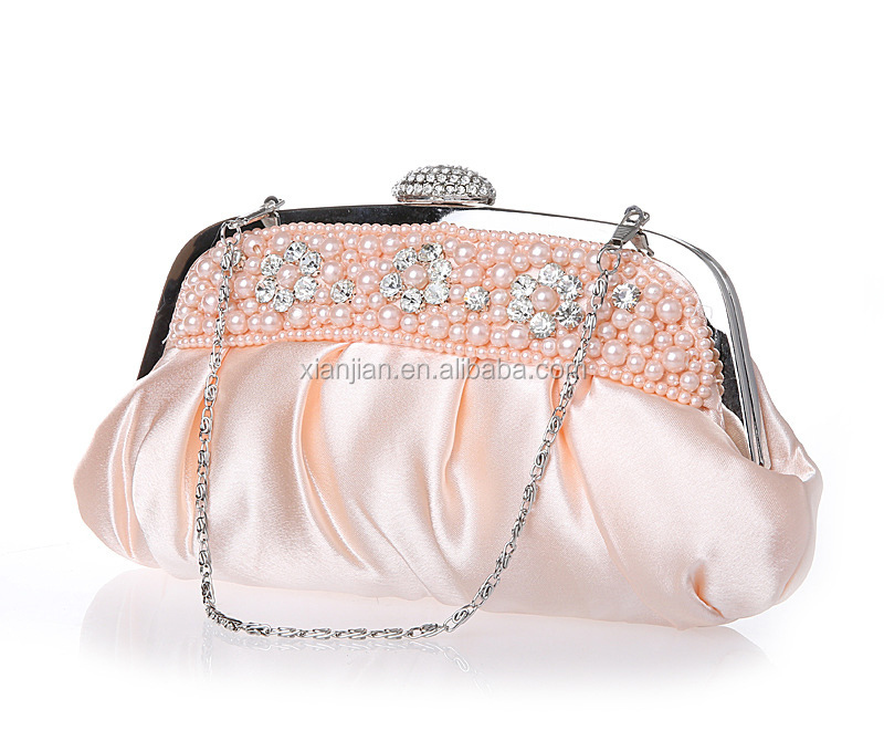 Wholesale Hot Vietnam Evening Pouch Purse with pears beads rhinestones (LCHEB29)