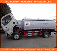 5cbm fuel truck 5000L used fuel tanker truck petrol dongfeng horse 5000L right hand drive rhd fuel bowser