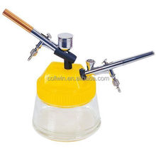 3in1 Air Brush Paint Cleaning Jar Pot Stand Holder Clean Station <strong>Airbrush</strong>