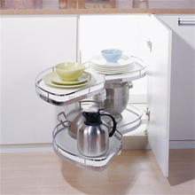 Metal Kitchen Magic Corner Swing Tray /Revolving Basket Magic Corner For Kitchen With Soft Closing( 900.900.900/L )