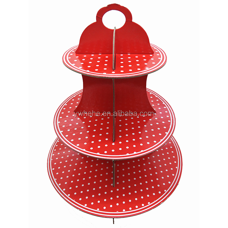 Wholesale Cheap Price Round Shape Children Parties Folded Decorated Paper Cup Cake Stand
