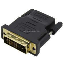 Support 1080P for HDTV LCD wholesale 24+1 DVI Male to HDMI Female Converter HDMI to DVI adapter
