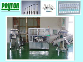 2017 high stardand syringe assembly machinery