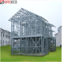 Most Popular Hot sale Simple Luxury Prefab Light Steel Villa Residential villa sold to South Africa