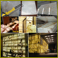 Wholesale price thin backlit onyx stone, hotel wall translucent marble onyx, white honyx green onxy slab laminated glass pannel