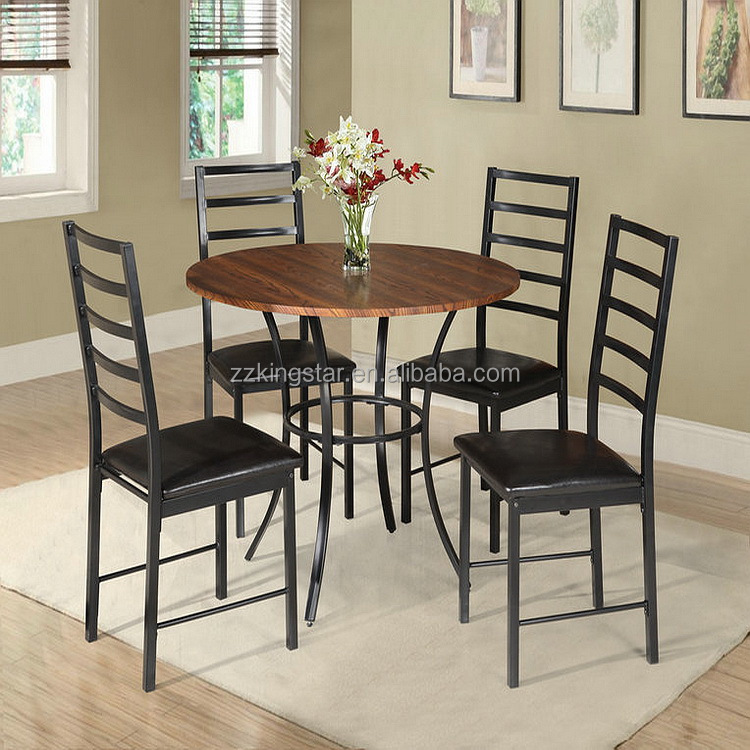 Hot sale cheap round wooden dining table chairs sets dining room set