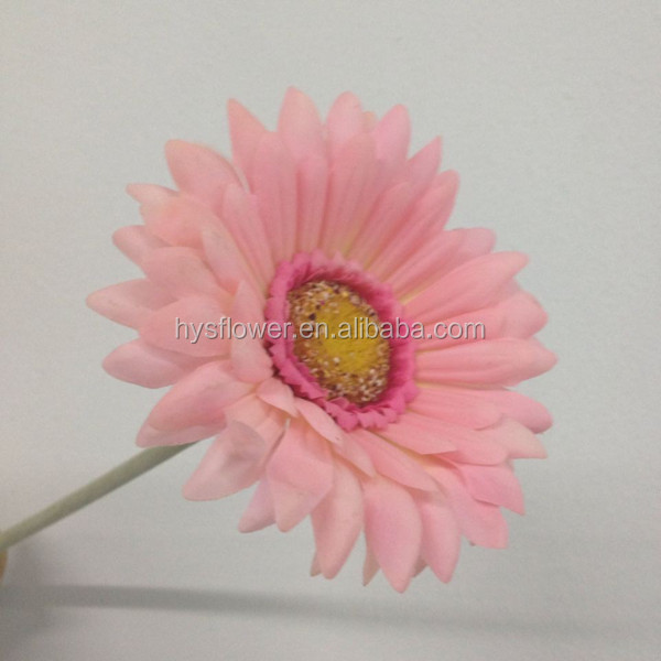 "25"" high quality real touch pink gerbera daisy,artificial daisies fabric flowers for wedding decoration"