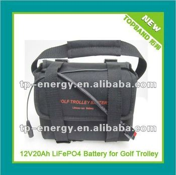 Professional design!!! lifepo4 battery 12.8V for golf trolley