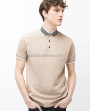 New Design Men's Cotton Shirt With Jacquard Collar