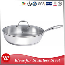 Cookware sets Stainless Steel Frying Pan Skillet Saute Griddle Pan Cooking hot pot with Lid