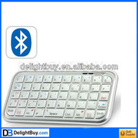 New Mini Keyboard Bluetooth Ultra Slim For PS3 Mac OS Android PC PDA White