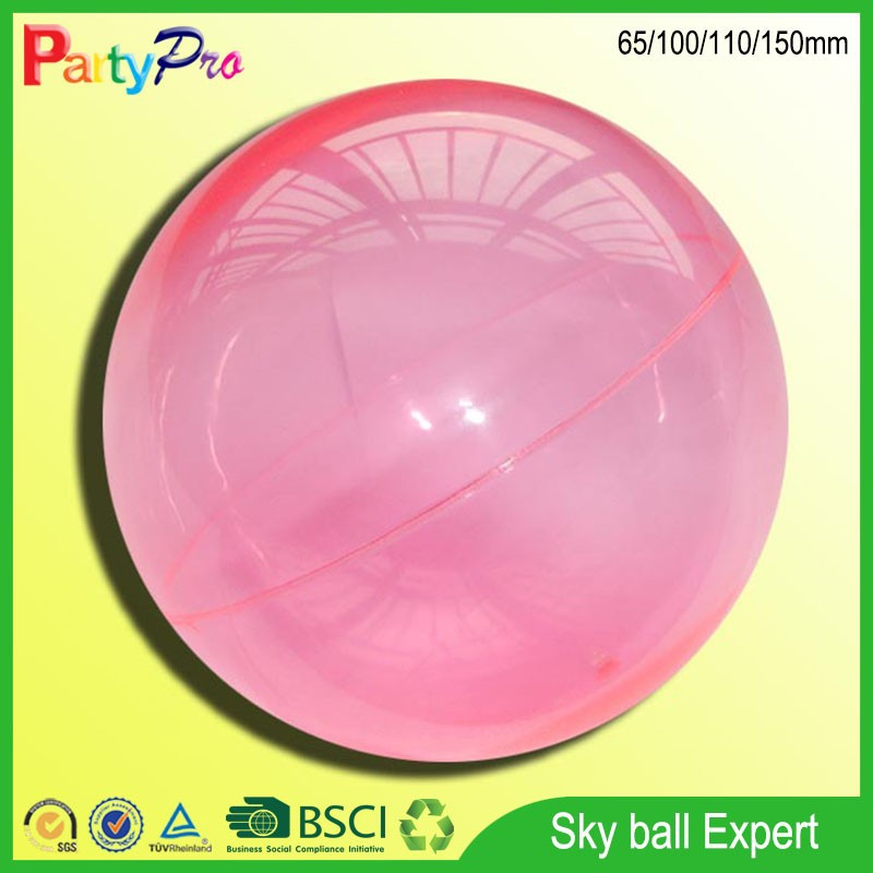 2015 hot sale China supplier BSCI and Disney social audit factory plastic hollow super high bouncing sky ball