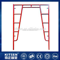 Factory direct sale automatic welding pre galvanized walk through scaffolding door frame