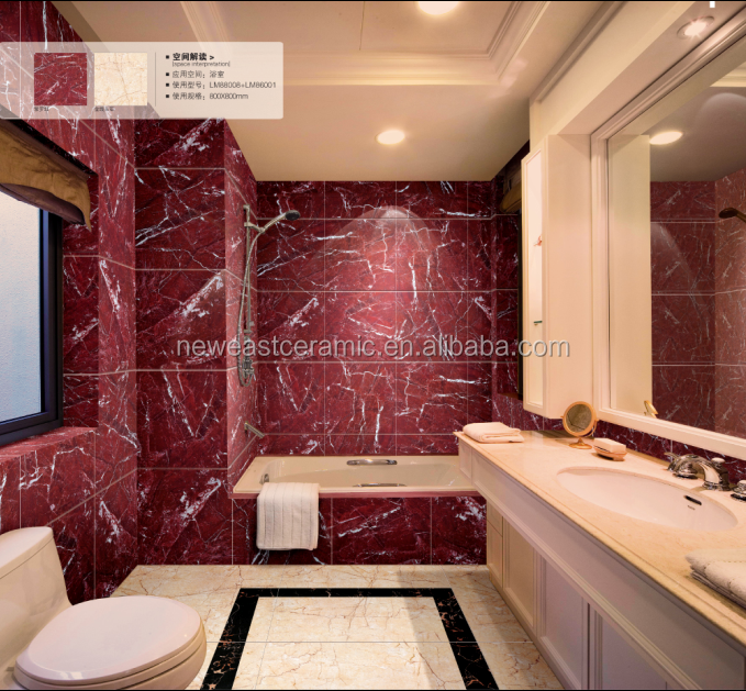 2016 China cheap glazed polished marble floor wall tile standard size 600x600