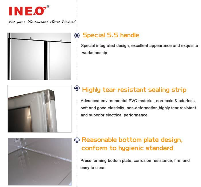 Double Door Commercial Refrigerator Stand/Two Door Refrigerator/European Style Refrigerator