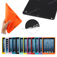 Low price high quality soft silicone case for iPad air , for apple iPad air silicone cover case