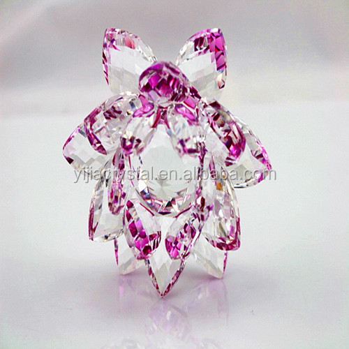 New gifts Artificial K9 glass crystal lotus flower