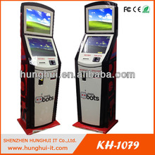 Cash acceptor Payment Kiosk / Credit and Debit Accepted Payment Kiosk for Mobile Phone