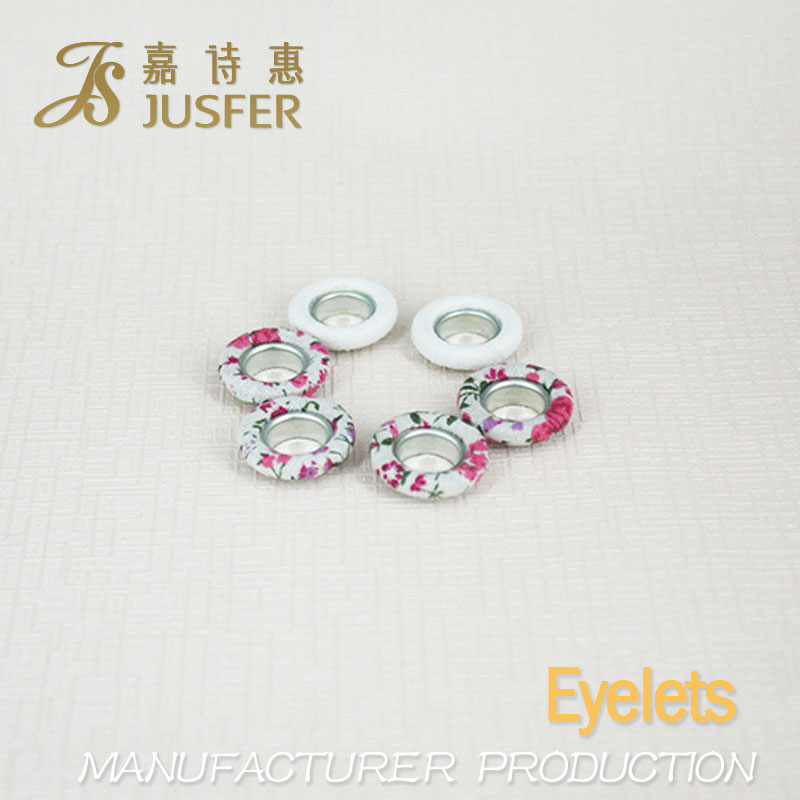 China Manufacturer Nickel Plated Grommets Eyelets With Fabric Covered