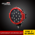 New products red ring led 4x4 auto working light offroad 51w led work light driving lights