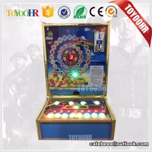 2017 new table slot machine for sale indoor table top slot game machine / foot ball mario game 1 coin 1 point