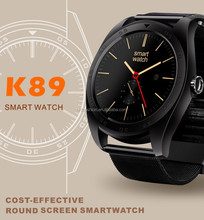 2017 K89 Bluetooth Wireless Pedometer Heart Rate Smart Watch For IOS Android, Luxury Black